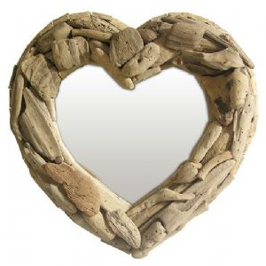 Mirror~Hippy Bohemian Hand Made Chunky Driftwood Heart Mirror~ By Folio Gothic Hippy 1523